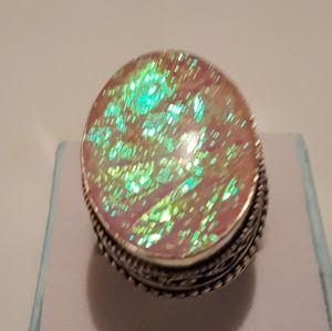 Size 6 Australian triple opal ring size new